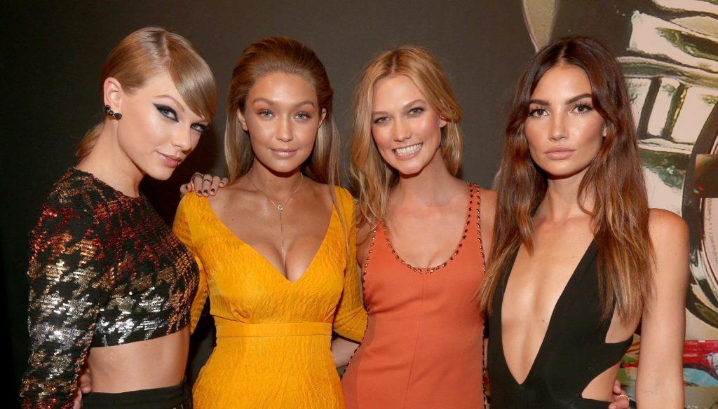 Taylor Swift, Gigi Hadid, Karlie Kloss e Lily Aldridge