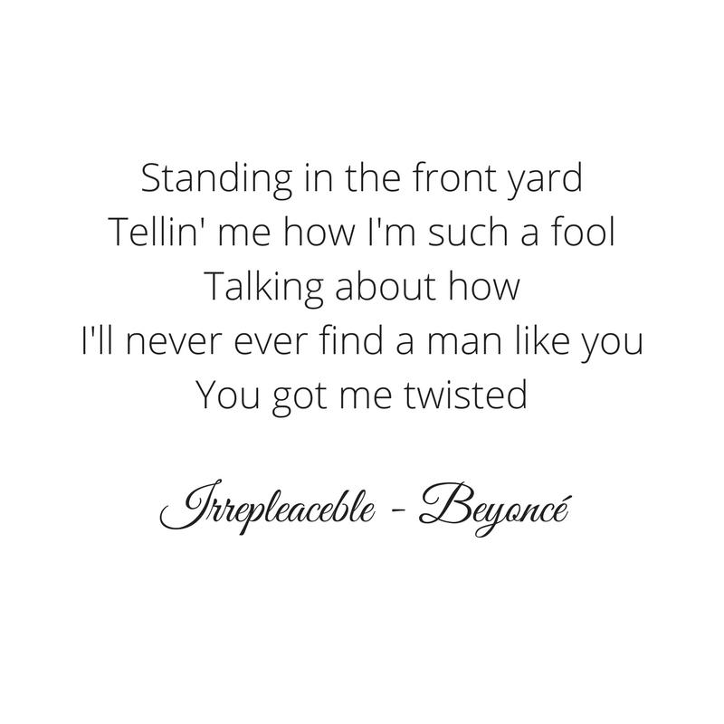 Parado no jardim me dizendo como eu sou boba, falando que eu nunca vou achar um homem como você. Você me deixou confusa.