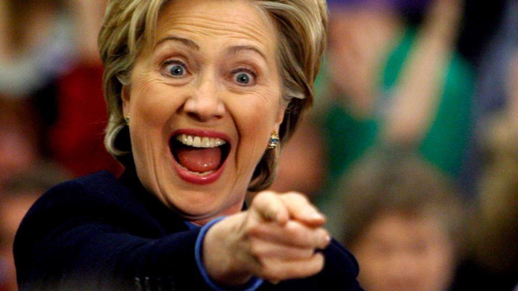 Hillary Clinton em momento ahá!
